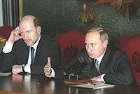 Vladimir Putin with Alexander Voloshin-1.jpg