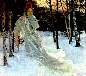 Vojtěch Hynais - Winter (c. 1890).