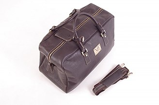 Suitcase - Leather travel bag