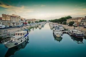 Beaucaire, Gard - The Canal du Rhône à Sète at Beaucaire