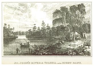 Volusia County, Florida - Volusia on the right bank of the St. John's River (c. 1835)