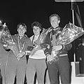 WK Wielrennen.. De nummers 1.2 en 3 op podium achtervolging dames. Obodovskaja (, Bestanddeelnr 920-6341.jpg