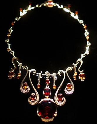 Necklace - Diamond and Garnet Necklace