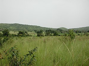 Landscape near Gbomblora town on the road between Batie và Gaoua