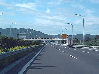 5th Ring Road (Beijing) - The Western 5th Ring Road nears the Western Hills in Beijing (July 2004 image)