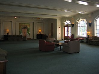 Wake Forest University - A formal lounge area used for studying inside Reynolda Hall overlooking the Magnolia Quad (Manchester Plaza).