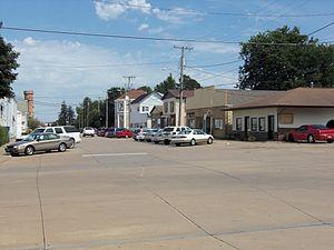 Walcott, Iowa - Buildings along E. Bryant Street
