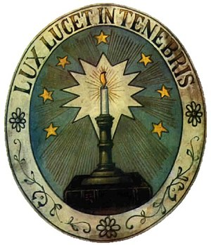 "Waldensians - Waldensian symbol Lux lucet in tenebris (""Light glows in the darkness"")"