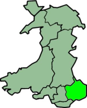 Monmouth (UK Parliament constituency) - Preserved county of Gwent  boundaries as defined in 2003.