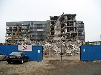 Walsgrave - The former Walsgrave Hospital during demolition on 1 February 2007