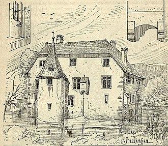Inzlingen Castle - Image: Wasserschloss Inzlingen