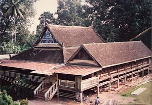 Wat Khung Taphao - Lecture hall at the monastery is now 70 years old.