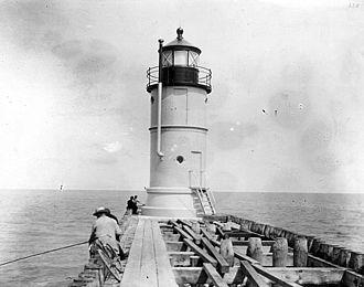 Waukegan Harbor Light - Before the 1904 pier extension