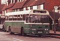 Wealden Beeline bus (LUG 523P) 1976 Leyland Leopard Plaxton, Mayfield, 25 January 1989.jpg