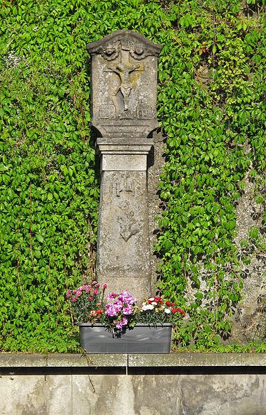 Wayside cross in Kopstal, Luxembourg, rue de Luxembourg