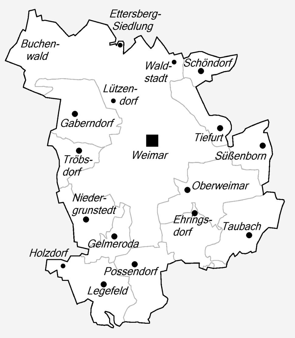 Weimar Stadtgliederung