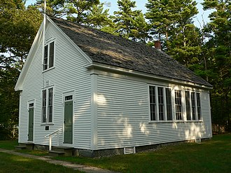 One-room school - A preserved one-room school located in Wells, Maine.