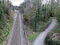 Welsh Highland Railway and Cyclepath - geograph.org.uk - 153054.jpg
