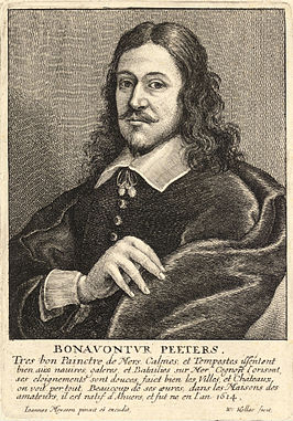 Gravure van B. Peeters door Wenceslas Hollar