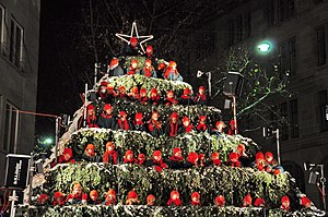 The Singing Christmas Tree, Werdmühleplatz in ...