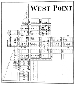 West Point, Indiana - West Point in 1878.
