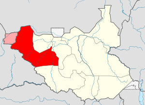 Map of Western Bahr el Ghazal