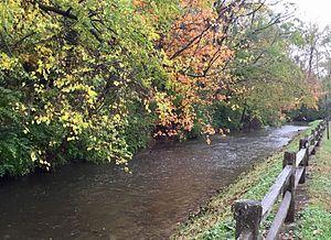 Greenwood, Indiana - Creek in Westside park
