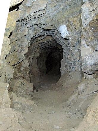 Wheal Watkins mine - Image: Wheal Watkins mine lower adit view from entrance 2016