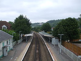 Whyteleafe station high northbound.JPG