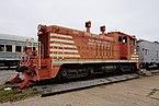 Wichita Falls Railroad Museum October 2015 01 (Missouri–Kansas–Texas EMD NW2 No. 1029).jpg