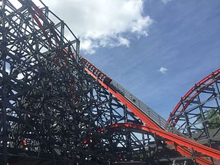 Wicked Cyclone roller coaster