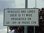 Wide load restriction sign for Provo Canyon, Apr 16.jpg