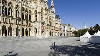 Eurovision Young Musicians 2012 - Rathausplatz, Vienna. Host location of the Eurovision Young Musicians 2012 final.