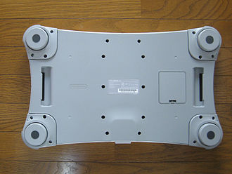 Wii Balance Board - The bottom of a Wii Balance Board, without foot extensions
