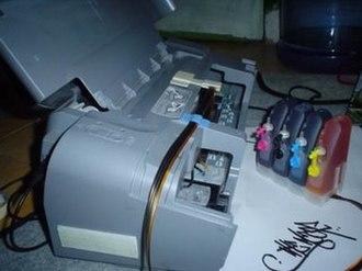Ink cartridge - Infusing an inkjet printer