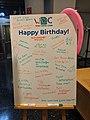 WikidataCon birthday sign.jpg