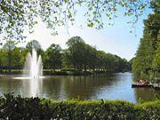 Rüstringer Stadtpark – Blick vom Bootshaus den Stadtparkkanal hinunter
