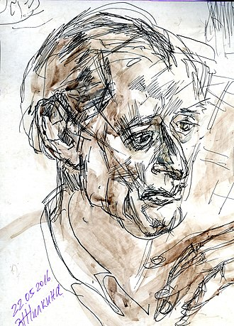 William Craft Brumfield - Portrait of William Brumfield by Zoya Zhilkina
