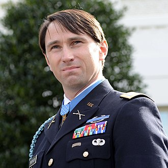 William D. Swenson - Swenson speaking to reporters at the White House after receiving the Medal of Honor on October 15, 2013