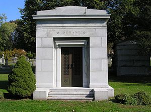 William C. Durant - The mausoleum of William C. Durant