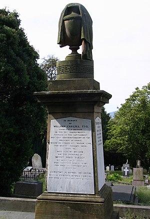 Dunedin Southern Cemetery - William Cargill's gravestone in Dunedin Southern Cemetery.