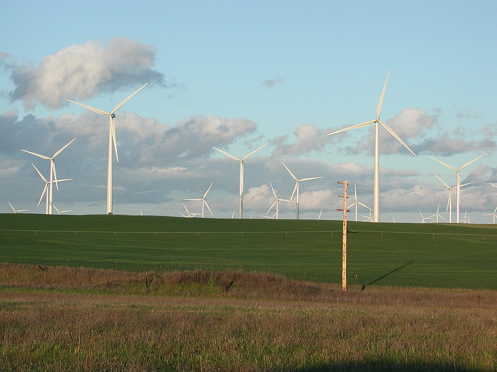 Shiloh Wind Power Plant in the Montezuma Hills of California