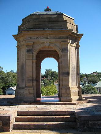 Windsor, Queensland - Cenotaph in Windsor War Memorial Park