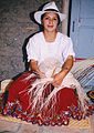 Woman who makes a kind of straw hats Ecuador.jpg