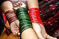 Women wearing bangles in Chittagong (02).jpg