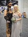 WonderCon 2012 - Khal Drogo and Daenerys Targaryen from Game of Thrones (7019312859).jpg