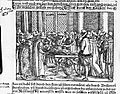 Woodcut; dissection of a corpse on a table. Wellcome L0009833.jpg