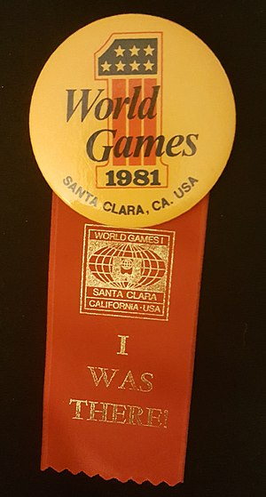 1981 World Games - World Games I souvenir button