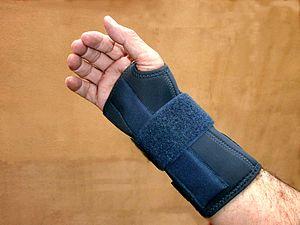 Ankle brace - Image: Wrist brace