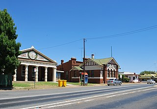 Wyalong Town in New South Wales, Australia